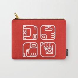 Mayan Glyphs ~ Hands Carry-All Pouch
