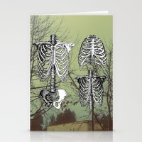 bones Stationery Cards featuring Bones by A C U L T
