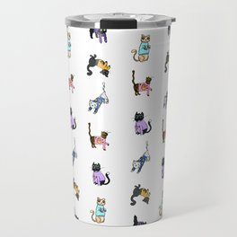 Cats in Cat Sweaters by Abi Roe Travel Mug