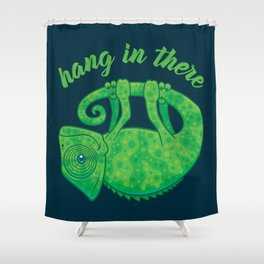 Hang In There Magical Chameleon Shower Curtain