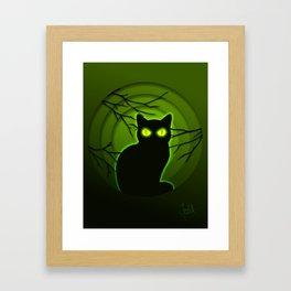 Halloween Cat Framed Art Print