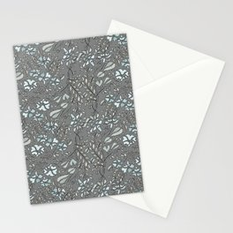 Silver Flowers Stationery Cards