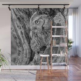 Echo the Screech Owl by Teresa Thompson Wall Mural