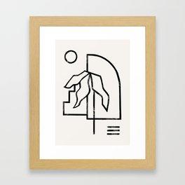 Beach Palm Framed Art Print