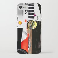senna iPhone & iPod Cases featuring SENNA by MATT WARING