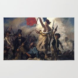 Liberty Leading the People by Eugène Delacroix (1830) Rug