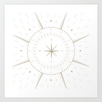 compass Art Prints featuring Compass by Kewpie Wu