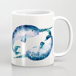 Blue Narwhals Coffee Mug