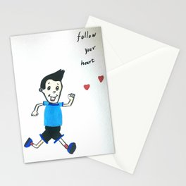 Follow your heart Stationery Cards