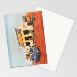 The Outback Petrol Station Stationery Cards