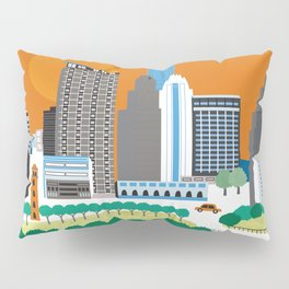 Austin, Texas - Skyline Illustration by Loose Petals Pillow Sham