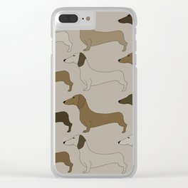 Dachshunds Clear iPhone Case