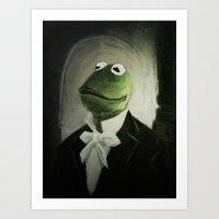 kermit Art Prints featuring Sir Kermit by LogicINK