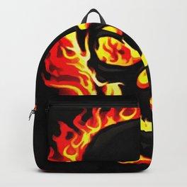 Flame Skull Backpack