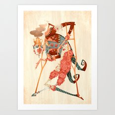 Cotton Candy Crutches Art Print