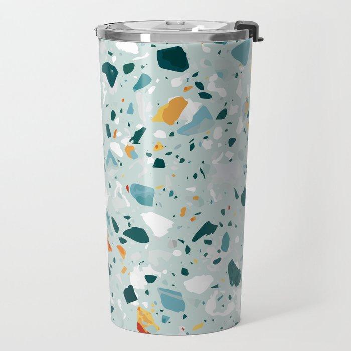 Mint Terrazzo #pattern #abstract Travel Mug
