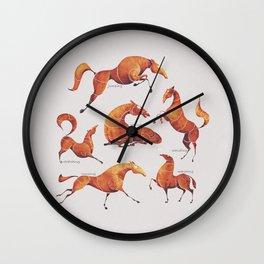 Horse poses Wall Clock