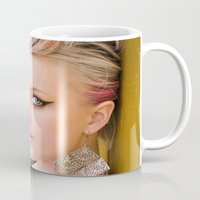 cigarette Mugs featuring Cigarette Girl by Marcus Meisler