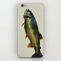 trout iPhone & iPod Skins featuring Trout on Beige by Brooke Ryan Photography