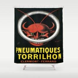 Vintage poster - Pneumatiques Torrilhon Shower Curtain
