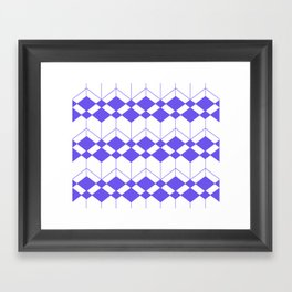 Abstract geometric pattern - blue and white. Framed Art Print