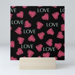 hearts pattern retro texture Mini Art Print
