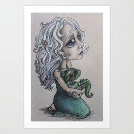 Little Elf Protector  Art Print