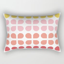 Floral Geometry Pattern Rectangular Pillow