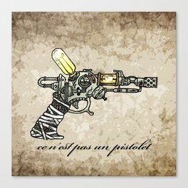 Raygun this is not a pipe Canvas Print