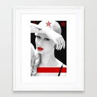 iggy azalea Framed Art Prints featuring Iggy Azalea Bahaus by infinitelydan