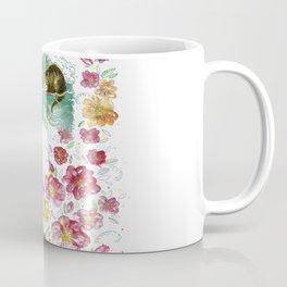 Floral Alice In Wonderland Coffee Mug