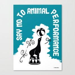 Say NO to Animal Performance – Seal Canvas Print