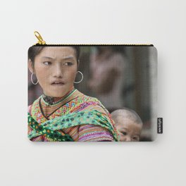 Village Woman Carry-All Pouch
