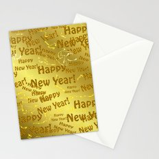 new year Colorful design happy new year text in gold, festive, elegant gift for anyone in the family Stationery Cards