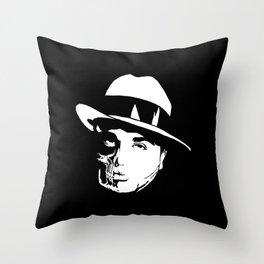 Al Capone Skull Throw Pillow