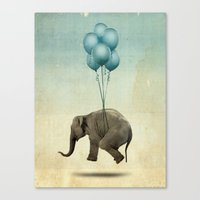 dumbo Canvas Prints featuring Dumbo by Vin Zzep