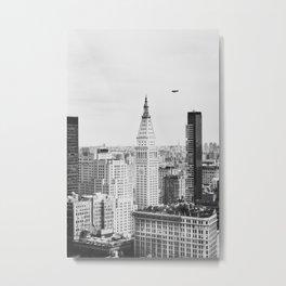 Manhattan Cityscape no.2 B&W Metal Print