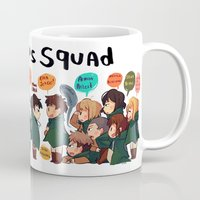 snk Mugs featuring SNK-Special ops. squad v2 by Mimiblargh