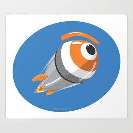 nucl.eye ogive Art Print