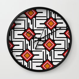 Networks and diamonds Wall Clock