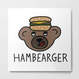 Hambearger Metal Print