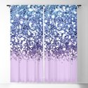 Sparkly Mermaid Blue Purple Lilac Ombre by nlmiller07art