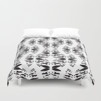 totem Duvet Covers featuring Totem by Eva Bellanger
