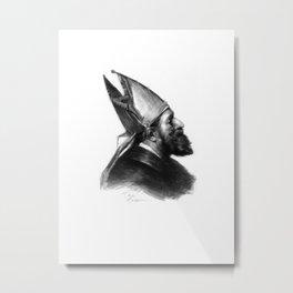 Man in a hat 2 Metal Print
