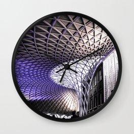 Train Station. Wall Clock