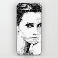 emma watson iPhone & iPod Skins featuring Emma Watson Typography by Christian Gholson