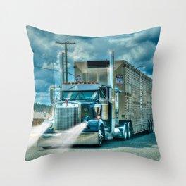 The Cattle Truck Throw Pillow
