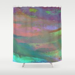 Inside the Rainbow 10 / Unexpected colors Shower Curtain