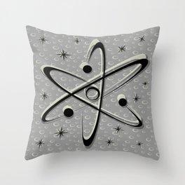 Atomic Love - Lunar Grey Throw Pillow