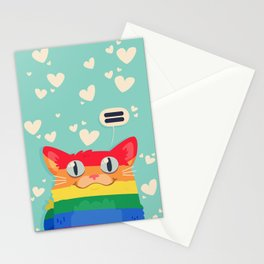 LGBT Cat Stationery Cards
